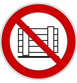 Panneau ne pas obstruer - P023